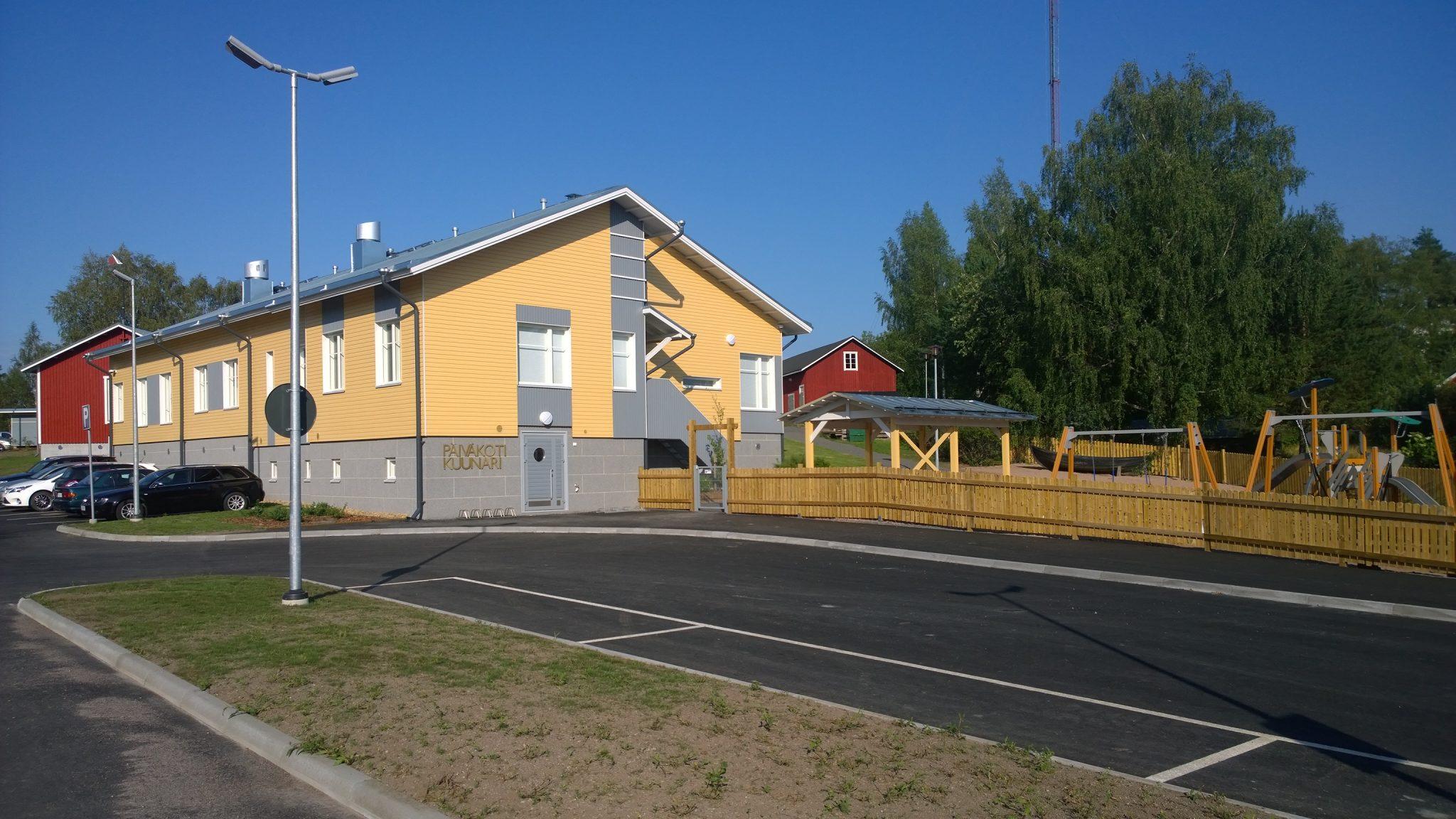 Päiväkoti Kuunarin rakennusurakointi valmistunut 6/2014